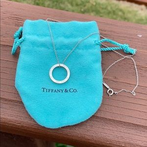 Tiffany & Co 1837 Circle Pendant Necklace